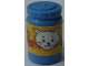 Part No: 33011cpb04  Name: Scala Accessories Jar Jam / Jelly, Yellow Label with White Cat Face Pattern (Sticker) - Set 3110