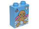 Part No: 4066pb337  Name: Duplo, Brick 1 x 2 x 2 with Baby in Diaper and '12' Pattern