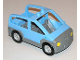 Part No: 4354c02  Name: Duplo Car with 2 Studs on Roof, Dark Bluish Gray Base