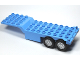 Part No: 48123c01  Name: Duplo Trailer Four Rear Wheels, Elevated Front End, 4 x 12 Studs with Gate Hinge