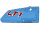 Part No: 64391pb015  Name: Technic, Panel Fairing # 4 Small Smooth Long, Side B with 'LT1' Pattern (Sticker) - Set 42036