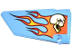 Part No: 64392pb006  Name: Technic, Panel Fairing #17 Large Smooth, Side A with Skull and Flames Pattern (Sticker) - Set 42022