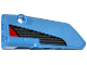 Part No: 64683pb016  Name: Technic, Panel Fairing # 3 Small Smooth Long, Side A with Red Triangle and Carbon Fiber Pattern (Sticker) - Set 42036