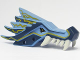 Part No: 93070pb03  Name: Dragon Head (Ninjago) Upper Jaw with Dark Blue Sections and Lightning Pattern