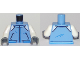 Part No: 973pb2913c01  Name: Torso Town Jacket with Pockets and White Flaps on Shoulders Pattern / White Arms / Dark Bluish Gray Hands