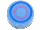 Part No: 98138pb062  Name: Tile, Round 1 x 1 with Concentric Blue and Dark Pink Circles Pattern