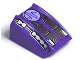 Part No: 30602pb028  Name: Slope, Curved 2 x 2 Lip, No Studs with Printed Circuitry Pattern (Pulse) - Set 4575