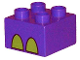 Part No: 3437pb026  Name: Duplo, Brick 2 x 2 with Rhino's Foot Pattern