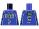 Part No: 973bpb133  Name: Torso NBA Milwaukee Bucks #7 Toni Kukoc Pattern