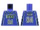 Part No: 973bpb135  Name: Torso NBA Milwaukee Bucks #34 Pattern