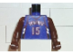 Part No: 973bpb137c01  Name: Torso NBA Toronto Raptors #15 (Road Jersey) Pattern / Brown NBA Arms