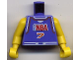 Part No: 973bpb155c01  Name: Torso NBA Player Number 7 Pattern / Yellow NBA Arms