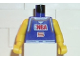 Part No: 973bpb180c01  Name: Torso NBA Player Number 5 Pattern / Yellow NBA Arms