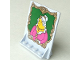 Part No: 40249px2  Name: Door 2 x 5 x 5 Swivel, Bracket Base with HP Portrait of Fat Lady Pattern