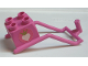 Part No: 31169pb01  Name: Duplo Animal Accessory Horse Harness with Heart and Crown Pattern on Both Sides (Stickers) - Set 4828
