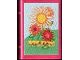 Part No: 33009pb034  Name: Minifigure, Utensil Book 2 x 3 with Flowers on Front and Both Insides Pattern (Stickers) - Set 3149