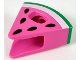 Part No: 45755pb01  Name: Minifigure, Headgear Costume Watermelon Slice with Green and White Rind, Black Seeds Pattern
