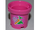 Part No: 48245pb001  Name: Belville Bucket without Handle with Flower, Carrot and Apple Pattern (Sticker) - Set 3189