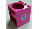 Part No: 6197pb02  Name: Cupboard 4 x 4 x 4 with Elliptical Hole for Sink with Blue Snowflake Pattern (Sticker) - Set 5847