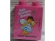 Part No: 76371pb063  Name: Duplo, Brick 1 x 2 x 2 with Bottom Tube with Happy Bricktastic Birthday (Fairy) 2017 Legoland Malaysia Resort Pattern