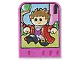 Part No: dupstr41  Name: Storybuilder Pink Palace Card with Boy in Red Shirt Pattern
