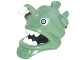 Part No: 25407pb01  Name: Minifigure, Headgear Mask Angler Fish Head with Wide Open Mouth, Fins and White Teeth, Eyes and Lure (Esca) Pattern