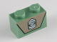 Part No: 3004pb103  Name: Brick 1 x 2 with Army Emblem on Dark Tan Background Pattern