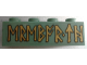 Part No: 3010pb213  Name: Brick 1 x 4 with Gold Runes Pattern (Sticker) - Set 79018