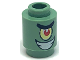 Part No: 3062bpb038  Name: Brick, Round 1 x 1 Open Stud with SpongeBob Plankton Character Smile Pattern