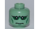 Part No: 3626bpb0541  Name: Minifigure, Head Alien with Frankenstein Monster, White Pupils and Wrinkles Pattern - Blocked Open Stud