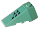 Part No: 43710pb15  Name: Wedge 4 x 2 Triple Left with Five Black Triangles on a Sand Green Background Pattern (Sticker) - Set 70612