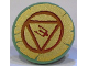 Part No: 59231pb03  Name: Minifigure, Shield Round Flat with Circle, Triangle and Trident on Gold Background Pattern