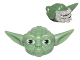 Part No: 64804pb01  Name: Minifigure, Head Modified SW Yoda Straight Ears with Large Eyes and Gray Hair Pattern