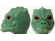 Part No: 87570pb01  Name: Minifigure, Head Modified SW Trandoshan