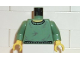 Part No: 973pb0266c01  Name: Torso Harry Potter Crew Neck Sweater Pattern / Sand Green Arms / Yellow Hands