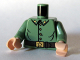 Part No: 973pb0468c01  Name: Torso Uniform with Four Buttons and Gold Buckle with Star Pattern / Sand Green Arms / Light Flesh Hands