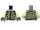 Part No: 973pb1448c01  Name: Torso LotR Armor with Light Green and Dark Red Straps and Belt Pattern / Yellowish Green Arms / Dark Bluish Gray Hands