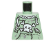 Part No: 973pb2141  Name: Torso Sweatshirt Tattered with Skull and Crossbones Pattern (Zombie)
