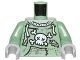 Part No: 973pb2141c01  Name: Torso Sweatshirt Tattered with Skull and Crossbones Pattern (Zombie) / Sand Green Arms / Light Bluish Gray Hands