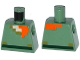 Part No: 973pb2186  Name: Torso Pixelated Light Flesh, Dark Tan and Orange Neck, Dark Green Belt Pattern (Minecraft)
