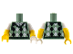 Part No: 973pb3435c01  Name: Torso Argyle Sweater Vest Pattern / Yellow Arms with White Short Sleeves Pattern / White Left Hand / Yellow Right Hand
