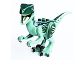 Part No: Raptor07  Name: Dino Raptor with Black Claws and Dark Green and Dark Blue Back - Complete Assembly (Blue)