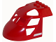 Part No: 11293pb006  Name: Aircraft Fuselage Curved Forward 6 x 8 Top with White Line on Red Background Pattern on Both Sides (Stickers) - Set 60108