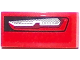 Part No: 11477pb027R  Name: Slope, Curved 2 x 1 No Studs with Chevrolet Camaro Car Taillight Pattern Model Right Side (Sticker) - Set 75874