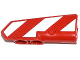 Part No: 11946pb006R  Name: Technic, Panel Fairing #21 Very Small Smooth, Side B with Red and White Danger Stripes Pattern Model Right Side (Sticker) - Set 42008
