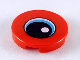 Part No: 14769pb263  Name: Tile, Round 2 x 2 with Bottom Stud Holder with Eye with Medium Azure Iris and Black Pupil Pattern