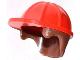 Part No: 16175pb01  Name: Minifigure, Headgear Helmet Construction with Reddish Brown Hair Pattern