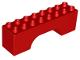 Part No: 18652  Name: Duplo, Brick 2 x 8 x 2 Arch