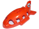 Part No: 18721pb01  Name: Duplo Airplane Midsize Fuselage Upper with Tail with Airplane Circling Globe Pattern