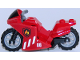 Part No: 18895c02pb02  Name: Motorcycle Sport Bike Complete Assembly with Black Windshield Pattern and Light Bluish Gray Wheels with Fire Pattern on Both Sides (Stickers) - Set 60108